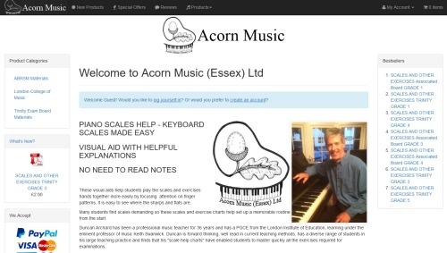 Acorn Music Website